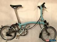Brompton S6LX Titanium 6 Speed Turkish Green folding bike + Dymamo lighting VGC for Sale