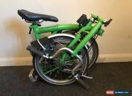 Brompton M3L Fold Up Bike - Green for Sale