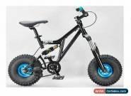MAFIABIKES Mini Rig FULL SUSPENSION MINI BIKE - Black Frame - Teal Wheels for Sale