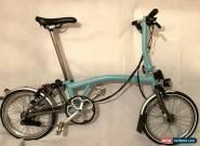 Brompton S6L-X Titanium 6 Speed Turkish Green folding bike + Dymamo lighting for Sale