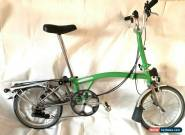 Brompton M6R-X Titanium 6 Speed Kew Green Rare folding bike WORLDWIDE SHIPPING for Sale
