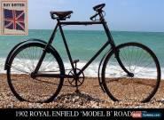 Best Offer - 1902 ROYAL ENFIELD ROADSTER Original Palmer Tyre! Vintage Bicycle  for Sale