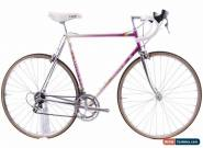 USED 1990 Daccordi Lugged Steel Road Bike 56cm Dura-Ace 7400 Italy Pink White for Sale