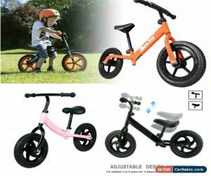 """Classic New 12"""" Kids Balance Bike Children Toddler Metal Running Training Bicycle Gifts for Sale"""