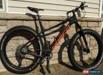USED 2018 Norco Ithaqua SL Carbon Fat Bike - Black/Orange - XL Sram and Shimano for Sale