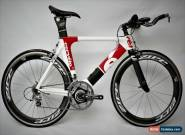 Cervelo P2C Carbon TT Bike Small Ultegra SRM Powermeter Zipp Carbon Wheels 650C for Sale