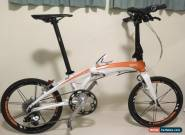 "Tern Verge X10 folding bicycle white/orange 20"" wheels SRAM X9 for Sale"