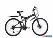 "Ecosmo 26"" Wheel Folding Steel Mountain MTB Bicycle Bike 21SP, 18.5"" -26SF02BL for Sale"
