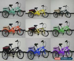 "Classic Adult/Kid 16/24"" 6 Speed 3 Wheel Tricycle Bicycle Bike Cruise & Basket UK, trike for Sale"