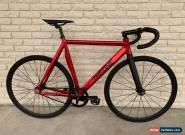 Throne Custom Phantom Track Fixed gear bike Fixie 59cm Red/Black for Sale