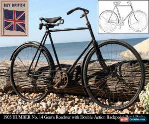 Classic 1903 HUMBER Gent's Roadster - Double-Action Backpedal Band Brake Vintage Bicycle for Sale