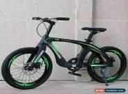 "20"" Kids Carbon Steel Mountain Bike Green & Black alloy frame DOUBLE DISC Brake for Sale"