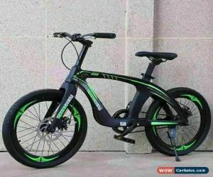 "Classic 20"" Kids Carbon Steel Mountain Bike Green & Black alloy frame DOUBLE DISC Brake for Sale"