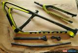 Classic 2015 Niner One 9 RDO Blaze Yellow Carbon Fiber Frame & Forks Build Package for Sale