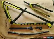 2015 Niner One 9 RDO Blaze Yellow Carbon Fiber Frame & Forks Build Package for Sale