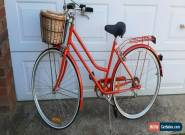 Ladies Vintage 6 Speed Bike. Reid. Red with black seat & grips & front basket for Sale