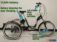 """ADULTS ELECTRIC TRICYCLE, FOLDING, 24"""" WHEELS, 6 SPEED, e-trike, 250w, 12.8ah  for Sale"""