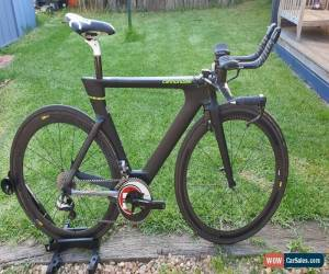 Classic Cannondale Slice time trial carbon road bike shimano di2 Mavic for Sale