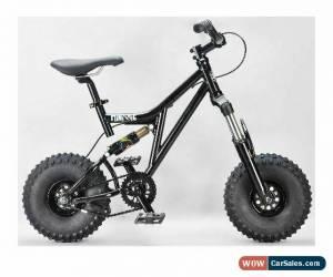 Classic MAFIABIKES Mini Rig FULL SUSPENSION MINI BIKE - Black Frame - Black Wheels for Sale