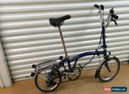 BROMPTON M6R 6 SPEED BLUE FOLDING BIKE BICYCLE - WORLDWIDE SHIPPING for Sale