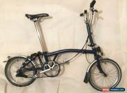 Brompton M3L 3 Speed Cobalt Blue folding bike WORLDWIDE SHIPPING for Sale