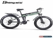 Electric bike 1000W Electric Fat Bike Bike Cruiser Electric Bicycle  ebike Green for Sale