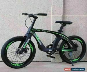 "Classic 20"" Kids Mountain Bike Green & Black magnesium alloy frame DOUBLE DISC Brake NEW for Sale"
