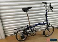 BROMPTON M6R 6 SPEED BLUE FOLDING BIKE BICYCLE - WORLDWIDE SHIPPING for Sale