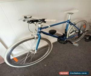 Classic Bright Blue XDS Retro Fixie Ebike Unisex - 9AH 3 speed for Sale