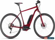 Cube Cross Hybrid Pro 400 Mens Electric Hybrid Bike 2018 - Red for Sale