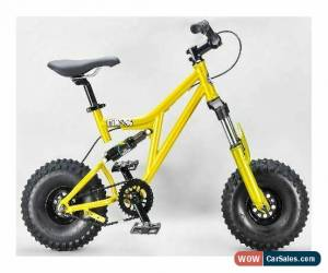 Classic MAFIABIKES Mini Rig FULL SUSPENSION MINI BIKE - Gold Frame - Black Wheels for Sale
