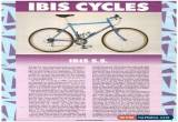 Classic Ibis SS Vintage Steel Mountain Bike Handmade in Sebastopol   for Sale