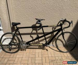Classic Cannondale Aluminum Road Tandem Bike Black Metallic Antique Made In USA for Sale