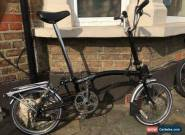 brompton folding bike M6R-6 Speed Black Condition Used. Shipping To Worldwide for Sale