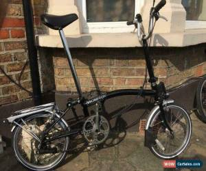 Classic brompton folding bike M6R-6 Speed Black Condition Used. Shipping To Worldwide for Sale