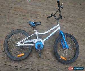Classic Mongoose BMX bike Racer X Silver (20inch wheels) - Rusty bolts, rides perfectly. for Sale